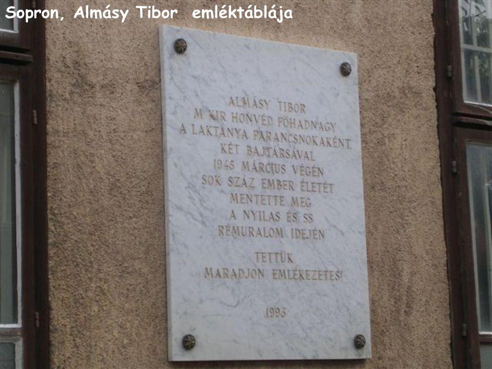 Sopron, Almásy Tibor emléktáblája