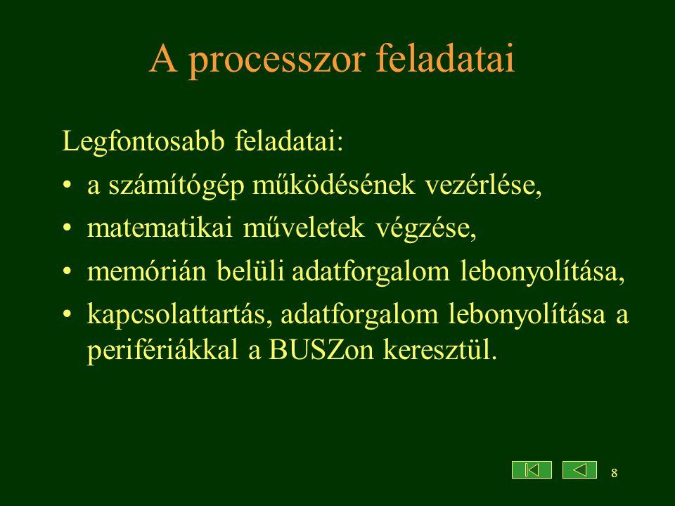2004 szeptember9 A processzor paraméterei 1.Mekkora számokkal képes számolni.