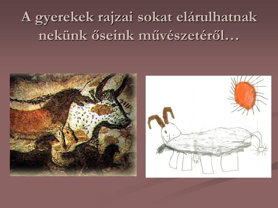 A gyerekek rajzai sokat elárulhatnak nekünk őseink művészetéről…