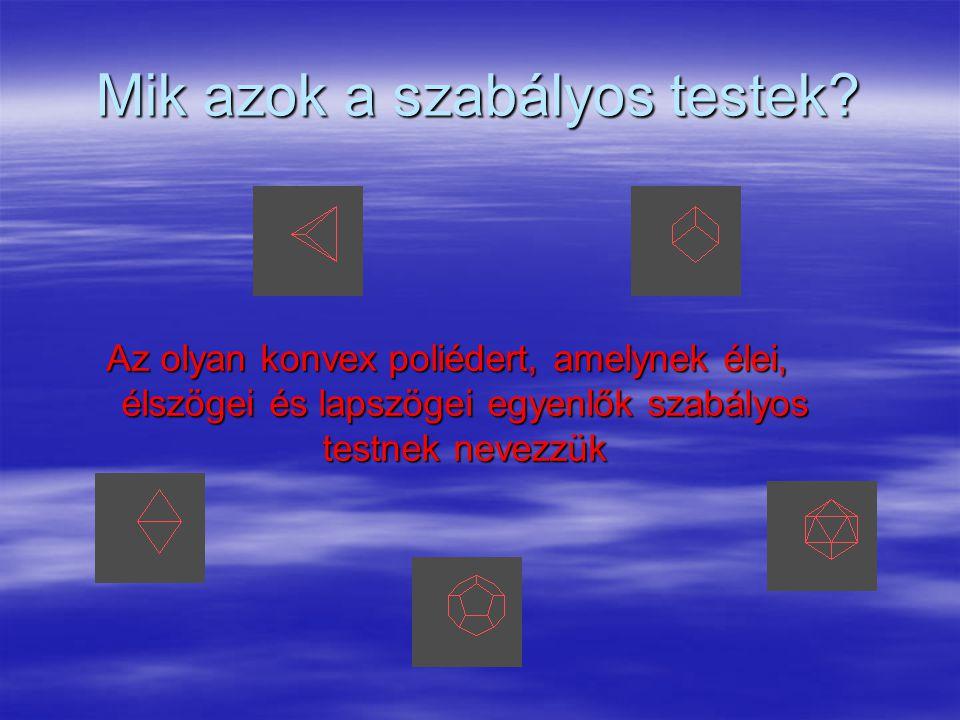 Catalan poliéderek  Arkhimédeszi poliéderek duálisai (15 darab) További részletek: www.peda.comwww.peda.com Vissza