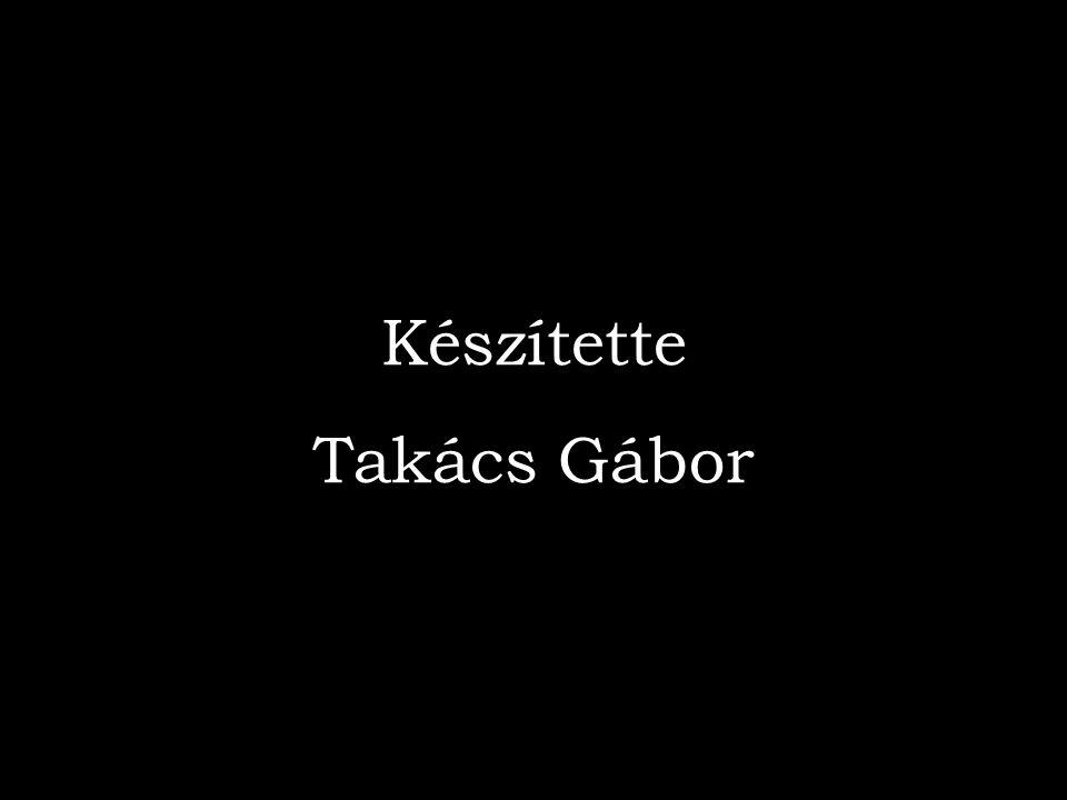 Készítette Takács Gábor