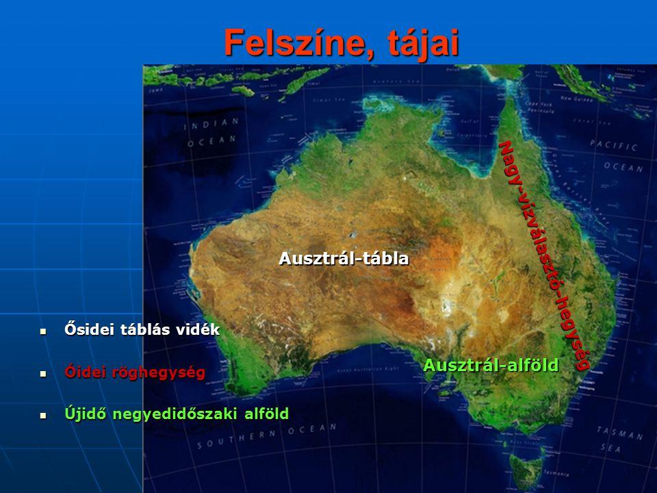 Ausztrál-tábla Az artézi víz Uluru=Ayers Rock