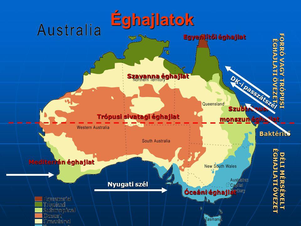 Ausztrália csapadéktérképe