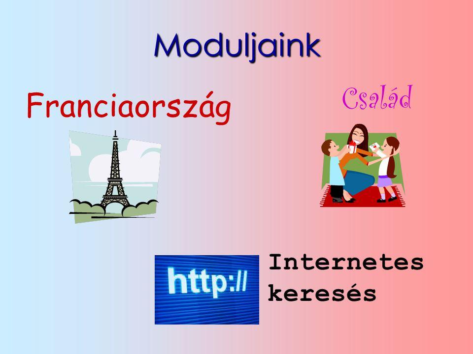 Moduljaink Franciaország Internetes keresés Család