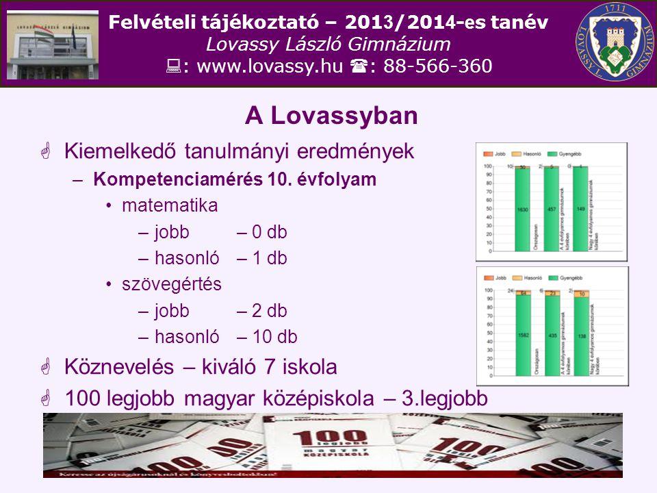 Felvételi tájékoztató – 201 3 /201 4 - e s tanév Lovassy László Gimnázium  : www.lovassy.hu  : 88-566-360 Minta jelentkezések az írásbeli vizsgára III.