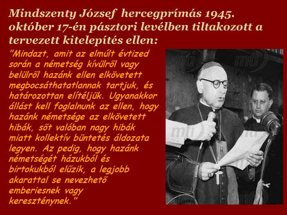 Mindszenty József hercegprímás 1945.