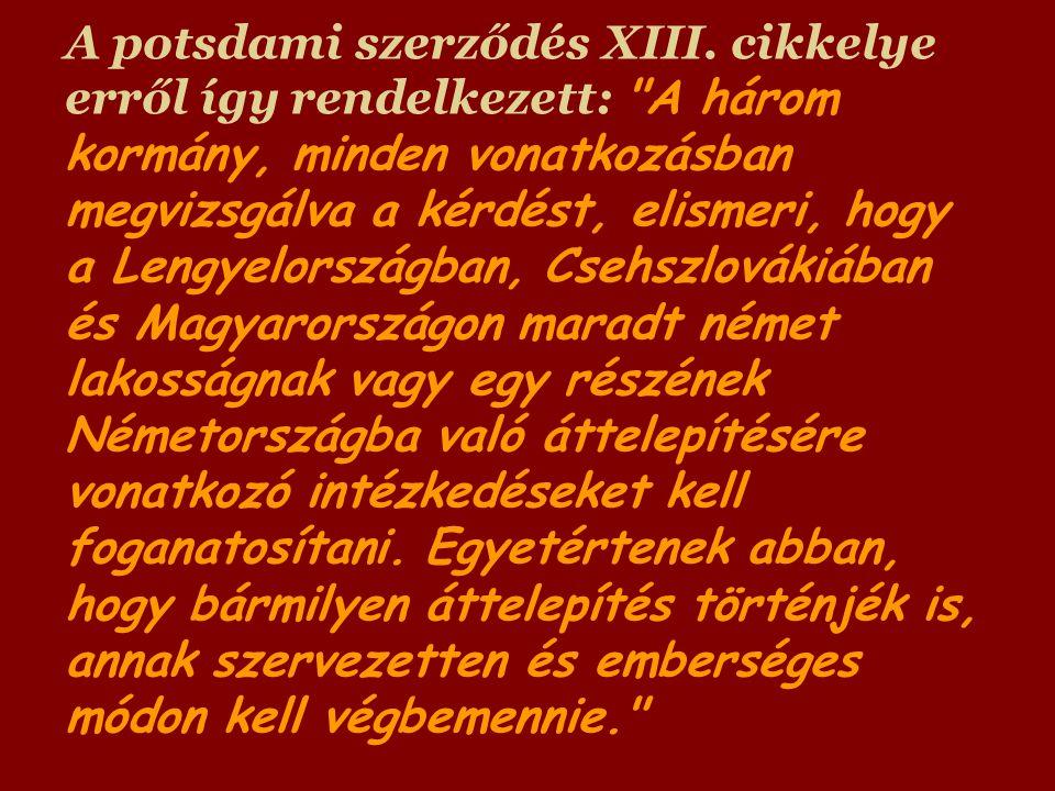 A potsdami szerződés XIII.