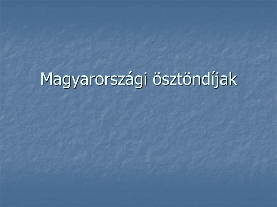 Magyarországi ösztöndíjak