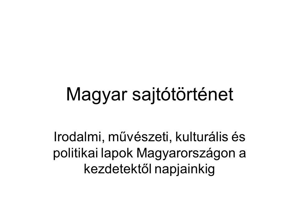 A magyar sajtótörténet kronológiája 4.