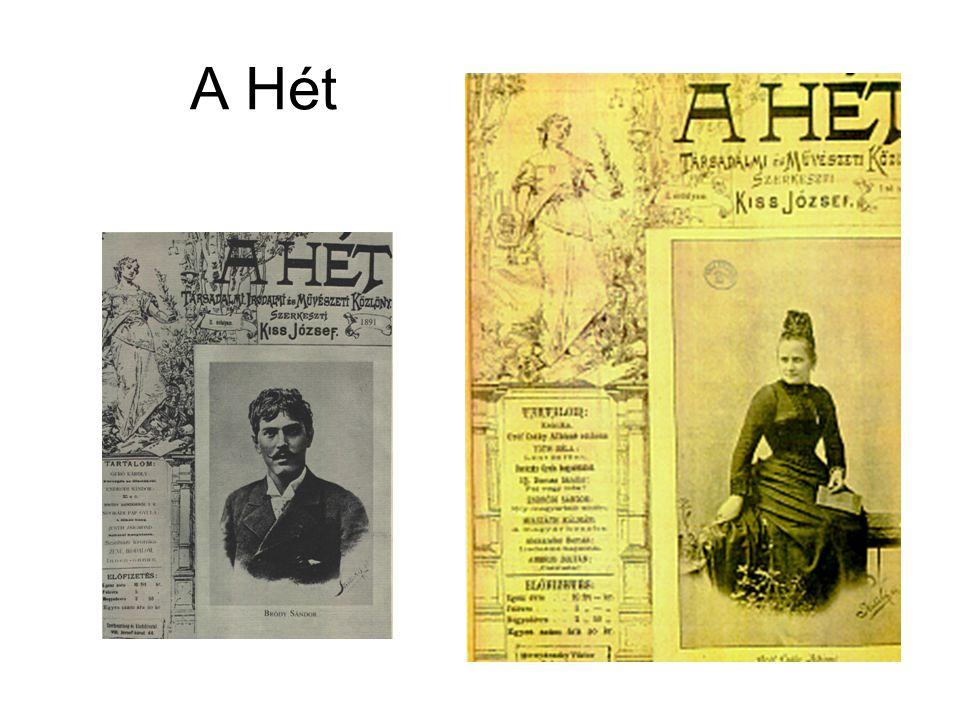 1890-1924 Polgári irodalmi folyóirat Alapító és szerkesztő: Kiss József