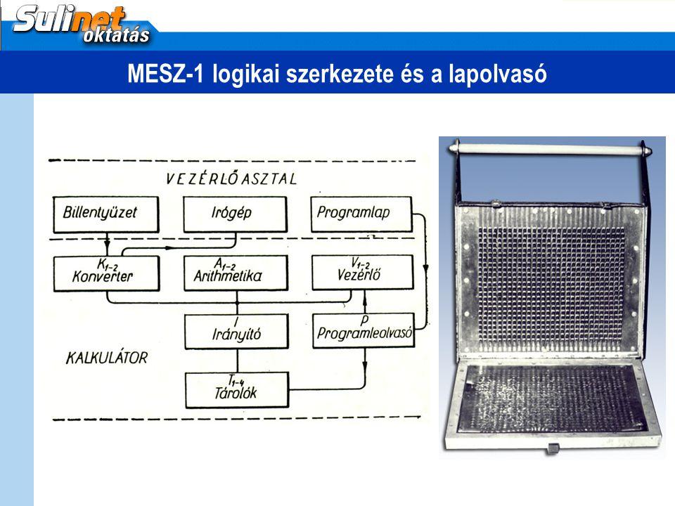 MESZ-1 logikai szerkezete és a lapolvasó