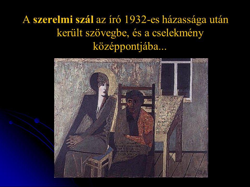 A szerelmi szál az író 1932-es házassága után került szövegbe, és a cselekmény középpontjába...
