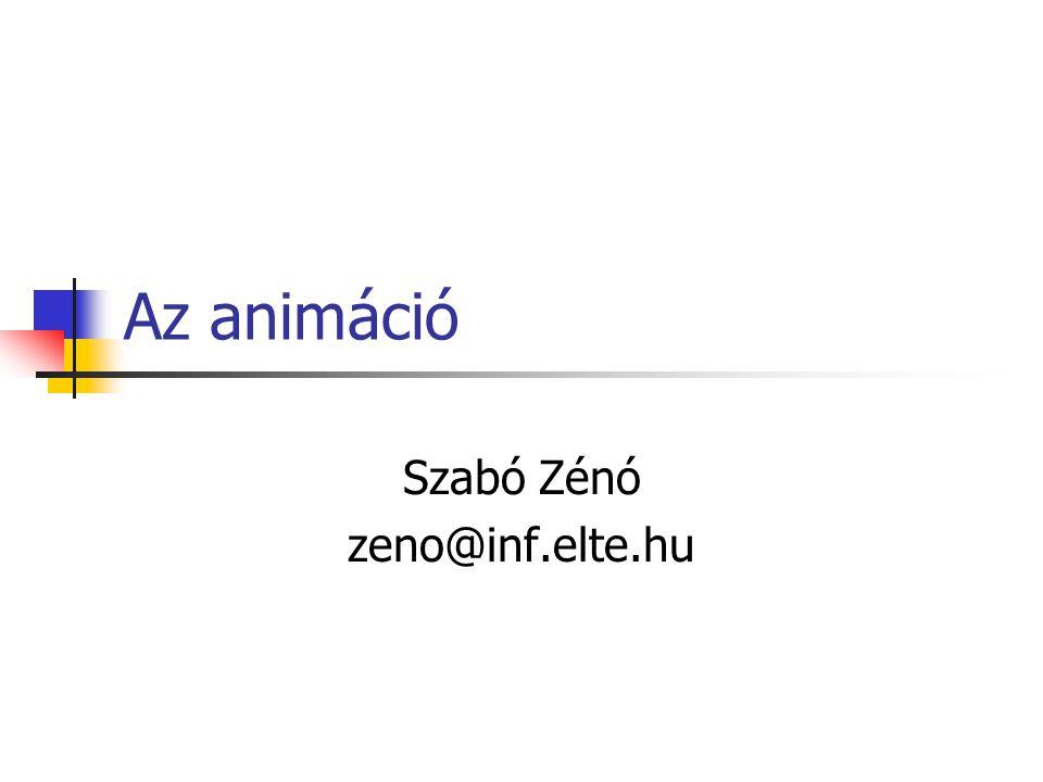 Az animáció Szabó Zénó zeno@inf.elte.hu