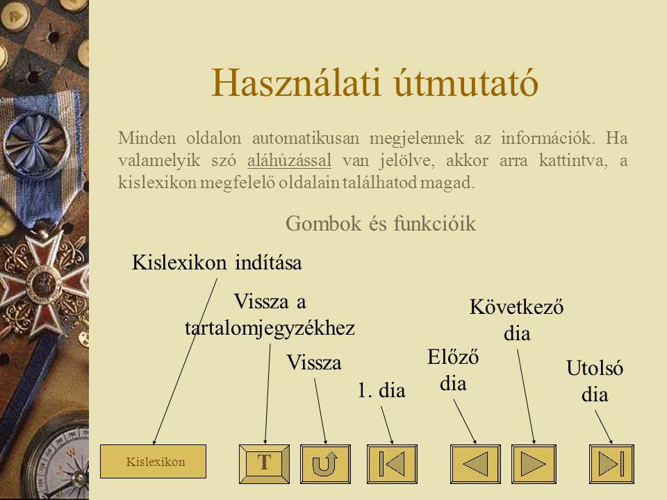 Használati útmutató T Kislexikon Minden oldalon automatikusan megjelennek az információk. Ha valamelyik szó aláhúzással van jelölve, akkor arra kattin