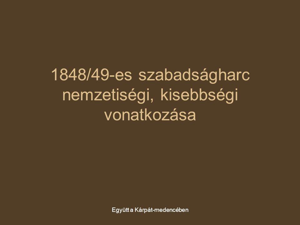 Együtt a Kárpát-medencében 1848/49-es szabadságharc nemzetiségi, kisebbségi vonatkozása