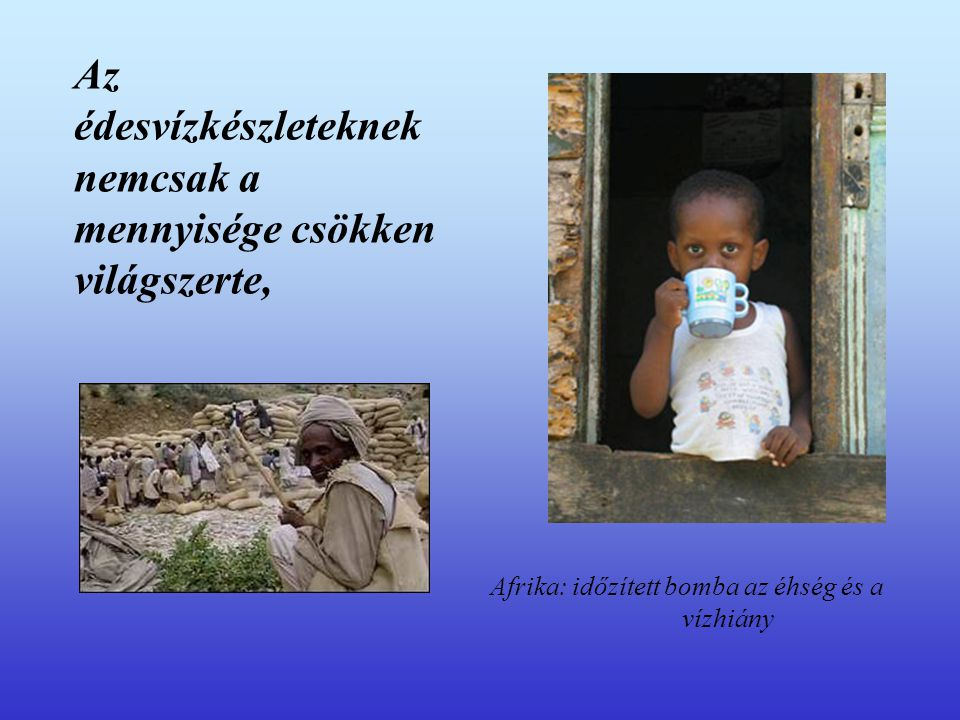 Az édesvízkészleteknek nemcsak a mennyisége csökken világszerte, Afrika: időzített bomba az éhség és a vízhiány