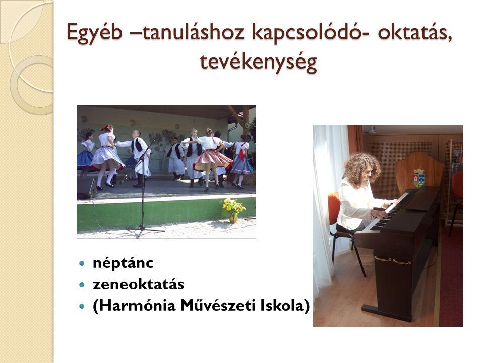 Egyéb –tanuláshoz kapcsolódó- oktatás, tevékenység néptánc zeneoktatás (Harmónia Művészeti Iskola)