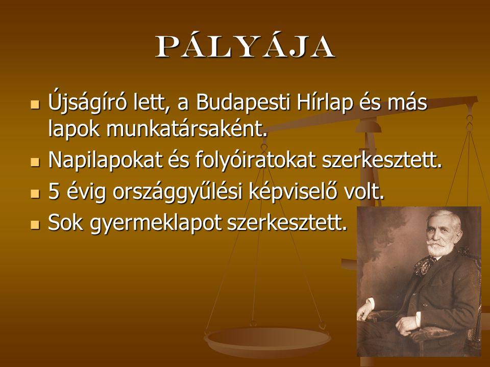 Pályája Újságíró lett, a Budapesti Hírlap és más lapok munkatársaként. Újságíró lett, a Budapesti Hírlap és más lapok munkatársaként. Napilapokat és f