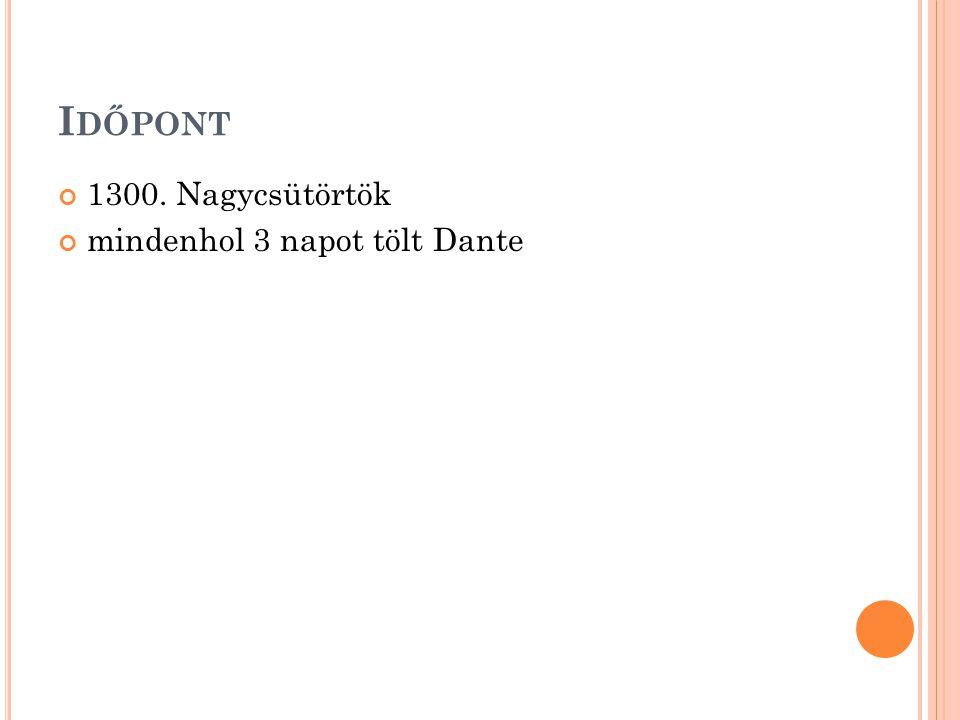 I DŐPONT 1300. Nagycsütörtök mindenhol 3 napot tölt Dante