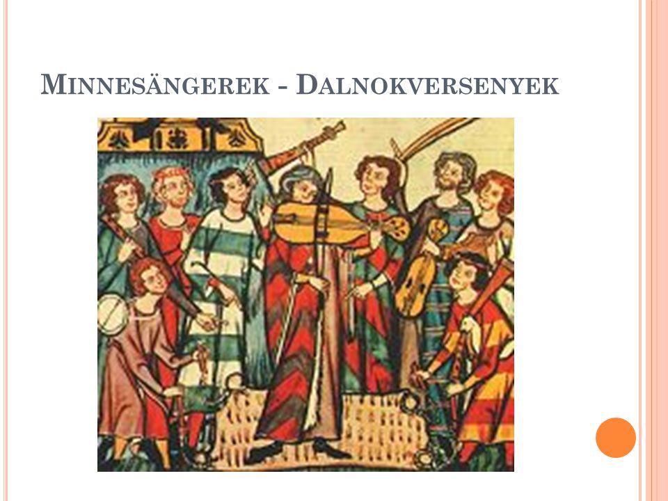 M INNESÄNGEREK - D ALNOKVERSENYEK