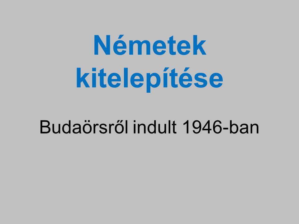 Németek kitelepítése Budaörsről indult 1946-ban