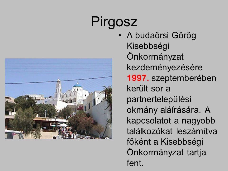 Pirgosz A budaörsi Görög Kisebbségi Önkormányzat kezdeményezésére 1997.