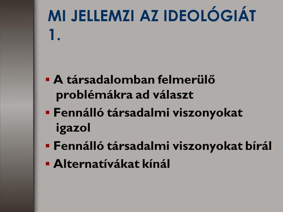 MI JELLEMZI AZ IDEOLÓGIÁT 1.