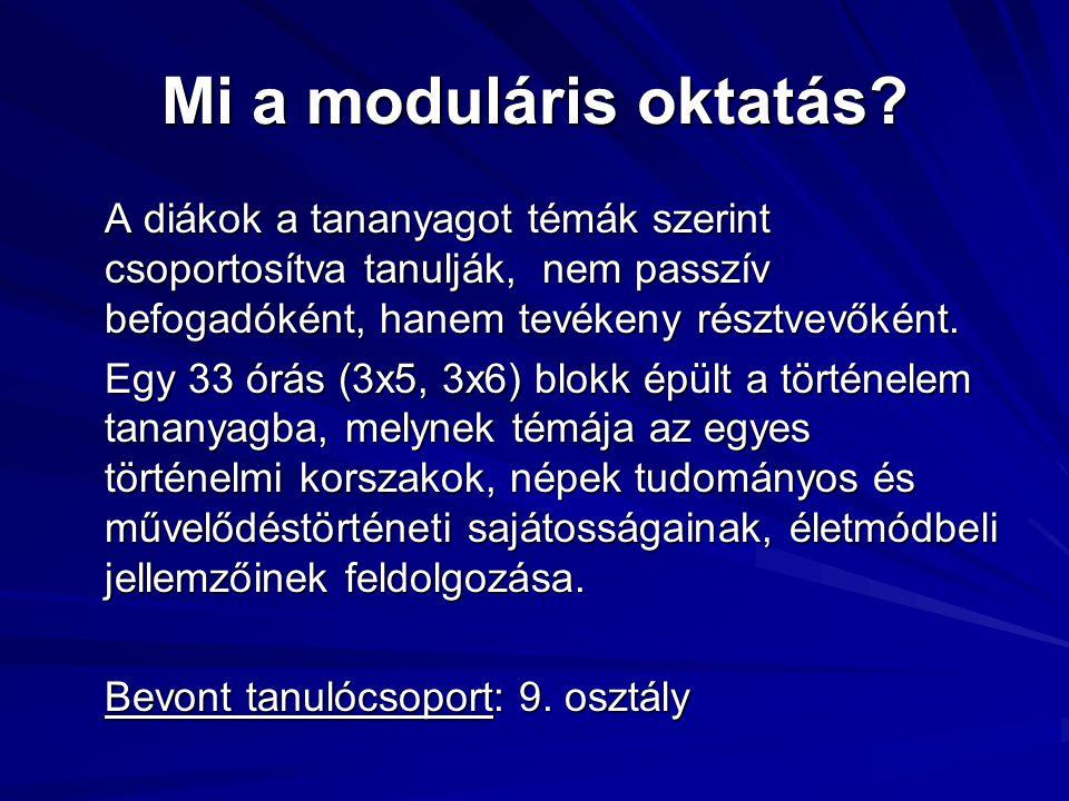 Mi a moduláris oktatás.