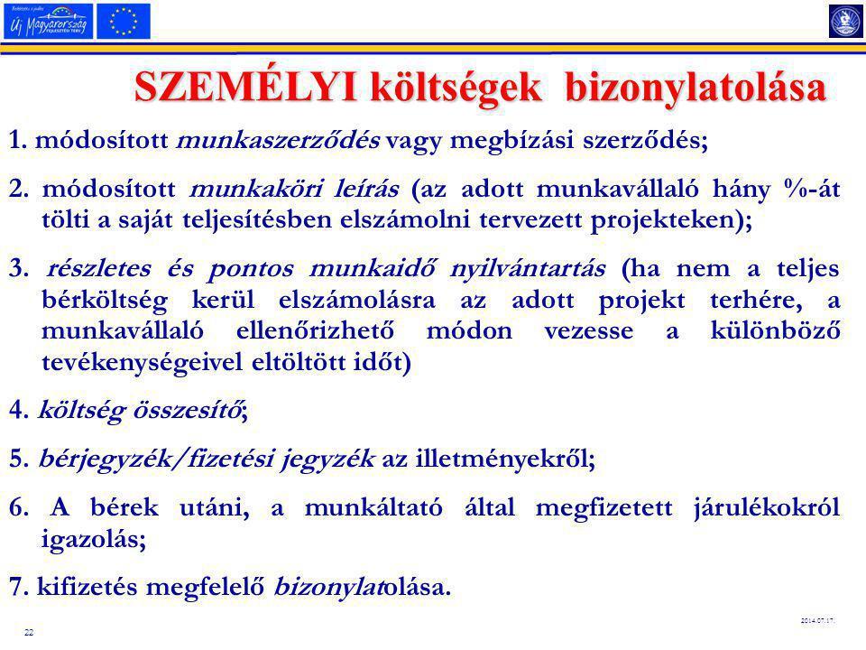 22 2014.07.17.SZEMÉLYI költségek bizonylatolása 1.