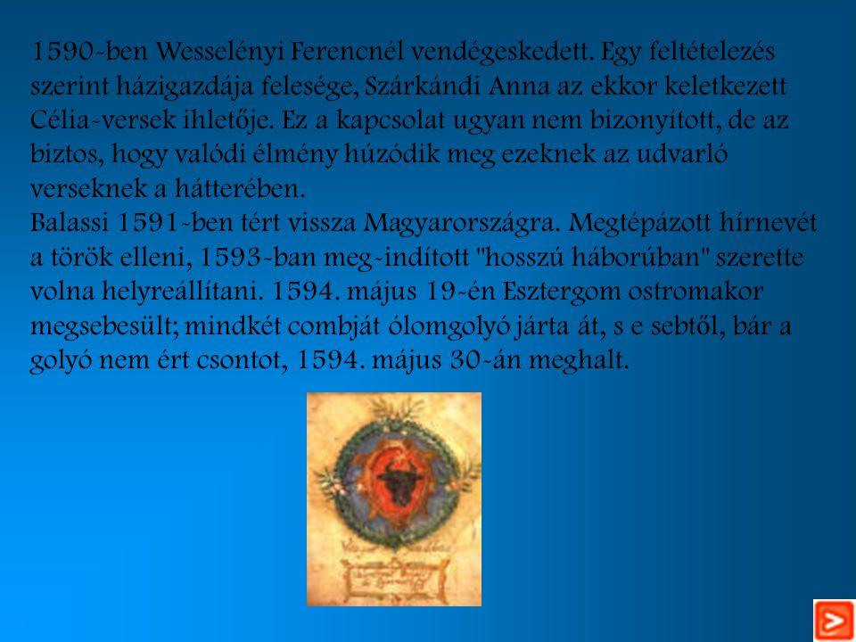 1590-ben Wesselényi Ferencnél vendégeskedett.