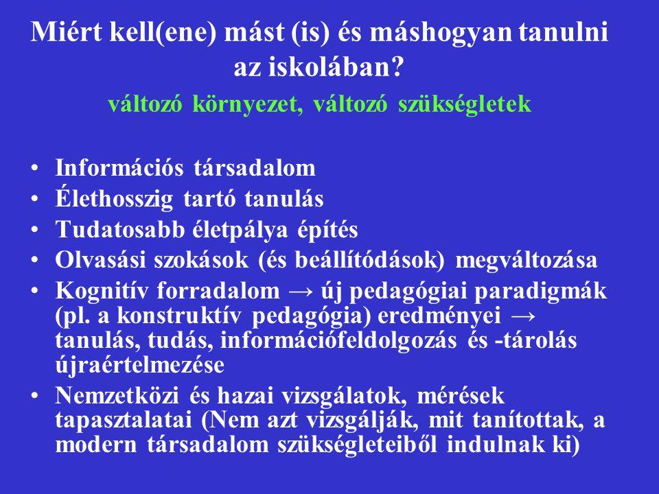 Szövegértési deficitek Szóolvasási nehézségek Szókincsismeret hiánya Az adott világdarabra vonatkozó háttérismeret hiánya Ismeretlen szó miatti elakadás A kellő olvasástempó hiánya (a hosszabb szerkezetek, mondatok nem állnak össze a lassú olvasás miatt) Kötőszó-ismereti deficit Többszörösen összetett mondatok meg nem értése A szövegben ki nem mondott általánosítások megfogalmazásában mutatkozó deficit A szöveg által sugallt, de ki nem mondott következtetés megfogalmazásában mutatkozó deficit A szövegrészek közötti logikai viszonyok fel nem ismerése Általánosítási nehézségek