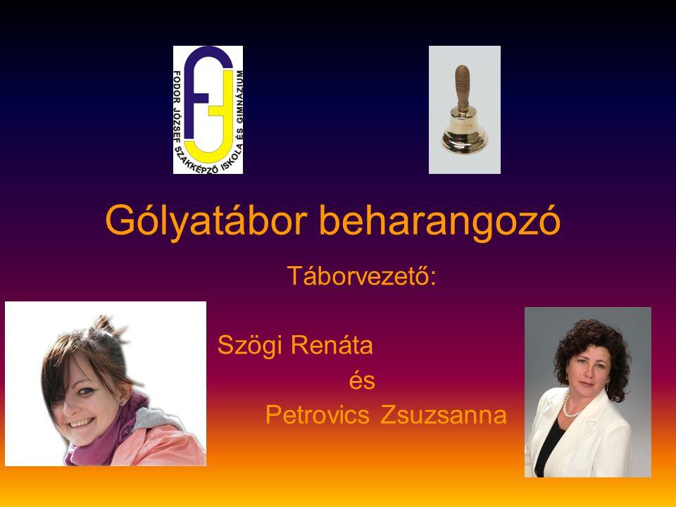 Gólyatábor beharangozó Táborvezető: Szögi Renáta és Petrovics Zsuzsanna