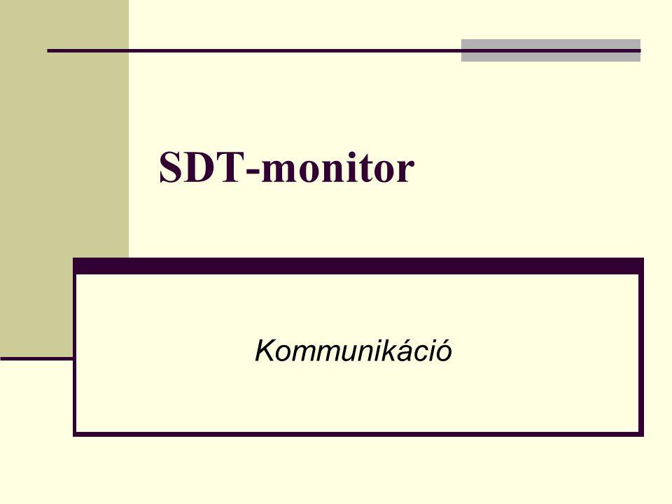 SDT-monitor Kommunikáció