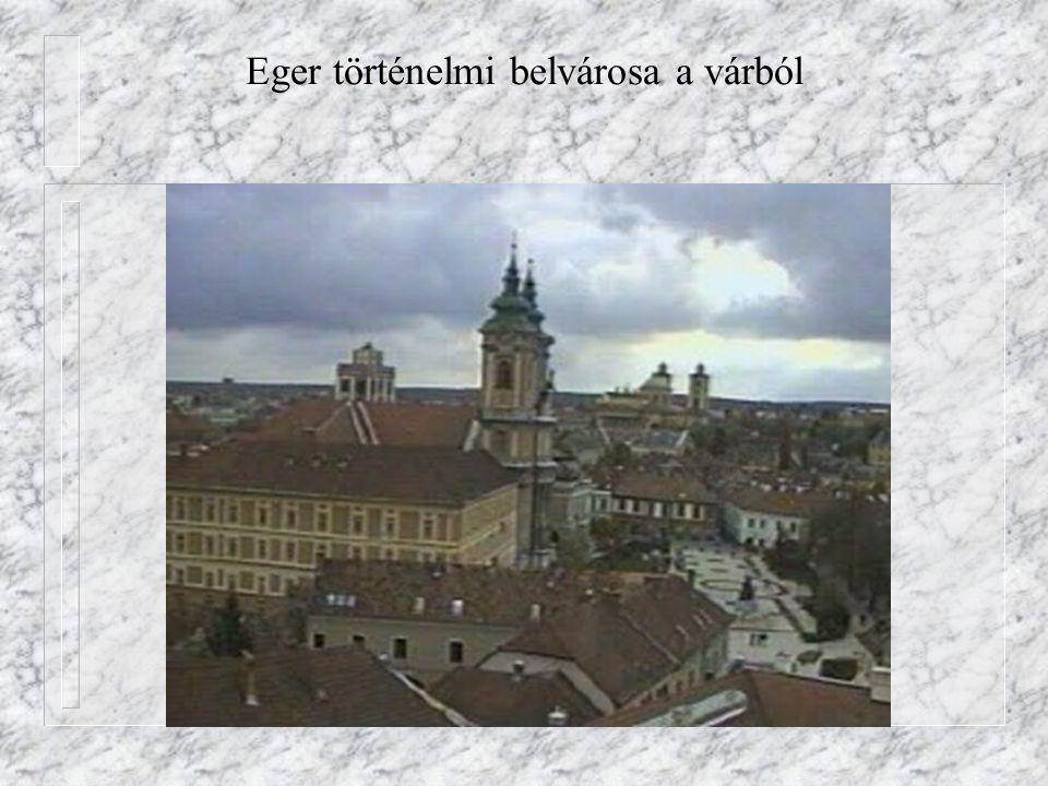 Eger történelmi belvárosa a várból