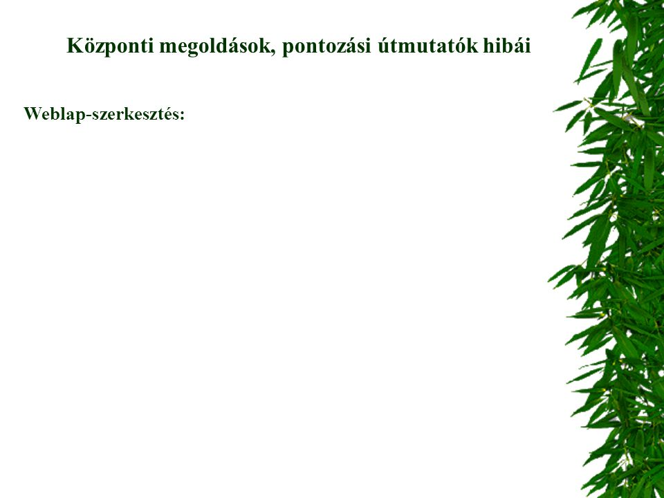 Weblap-szerkesztés: