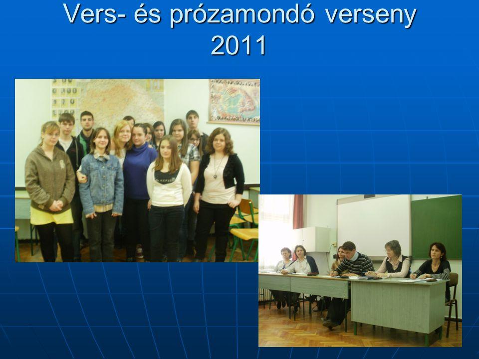 Vers- és prózamondó verseny 2011