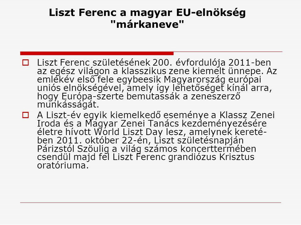 Liszt Ferenc a magyar EU-elnökség márkaneve  Liszt Ferenc születésének 200.