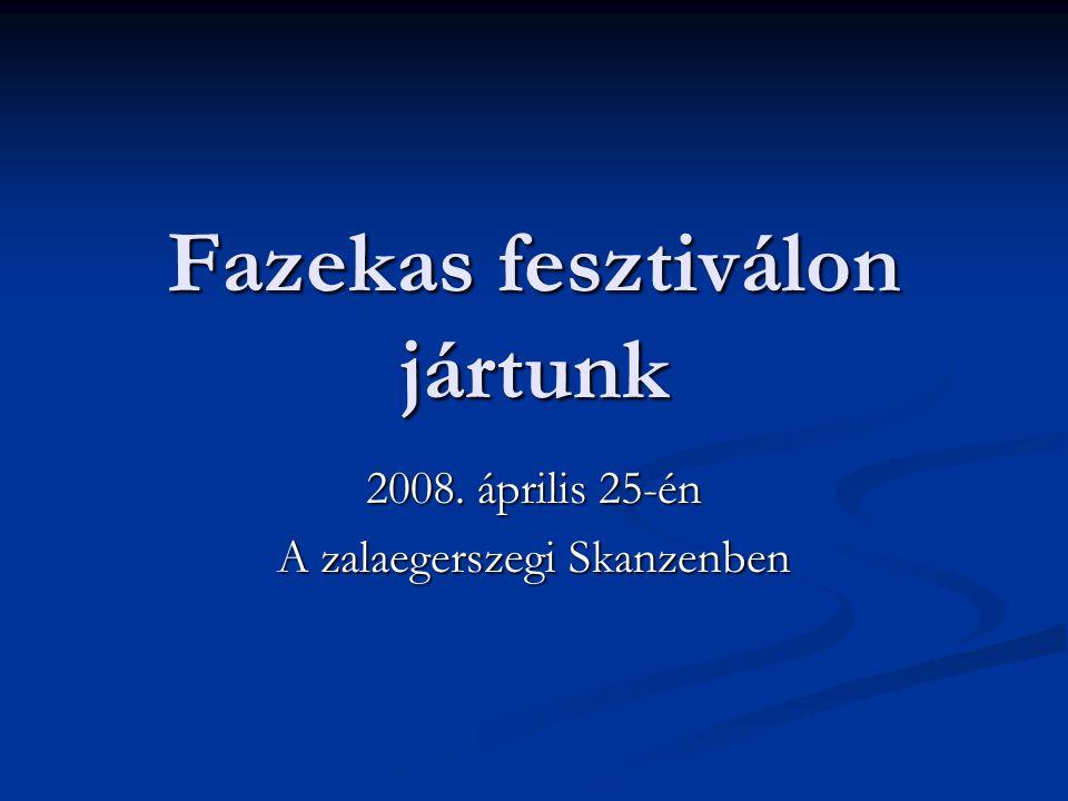 Fazekas fesztiválon jártunk 2008. április 25-én A zalaegerszegi Skanzenben