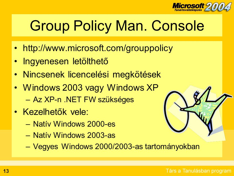 13 Group Policy Man.
