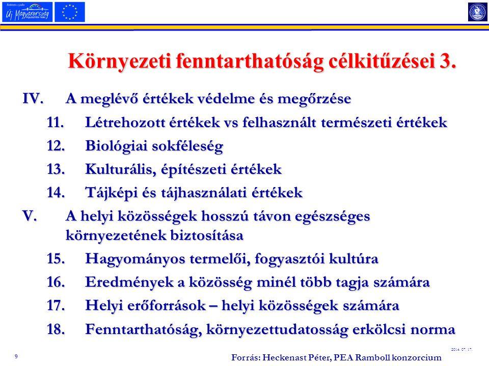 10 2014.07. 17. Projektek - Környezeti hatások KözvetlenKözvetlen –Negatív (pl.