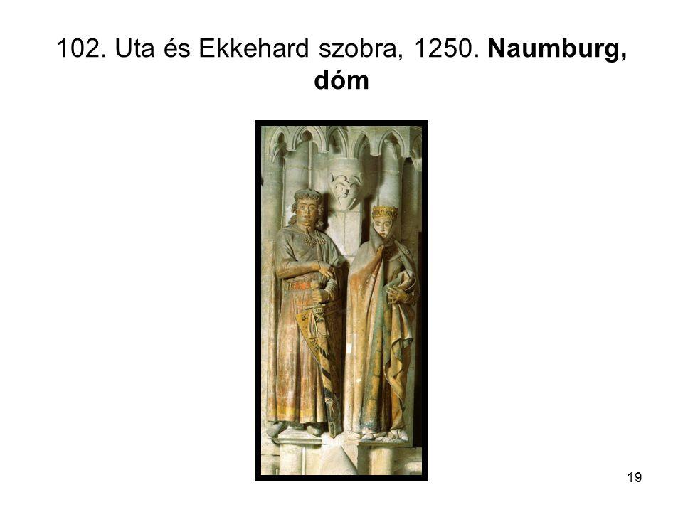 19 102. Uta és Ekkehard szobra, 1250. Naumburg, dóm