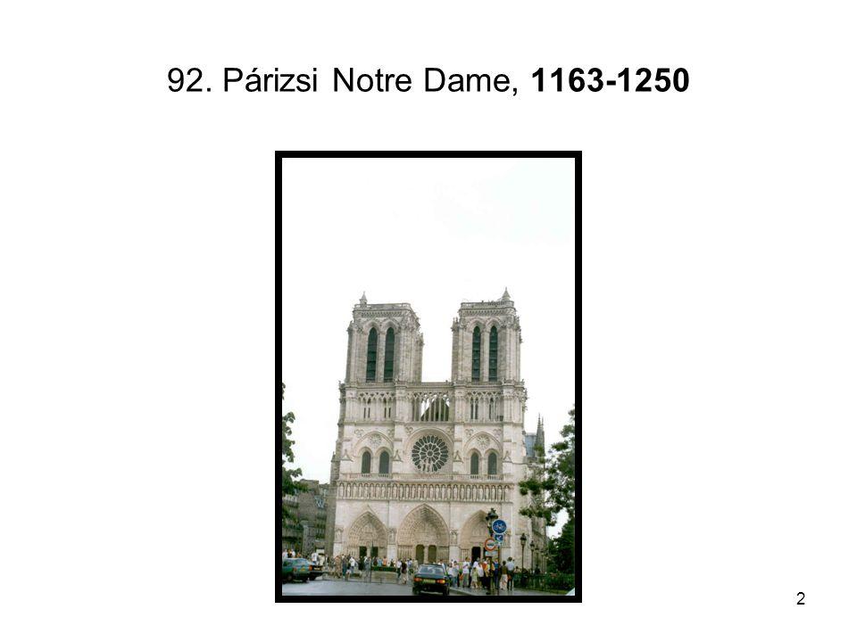 2 92. Párizsi Notre Dame, 1163-1250