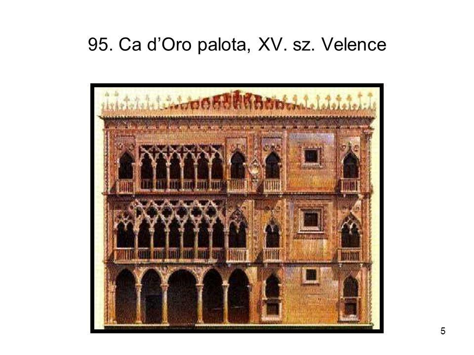 5 95. Ca d'Oro palota, XV. sz. Velence