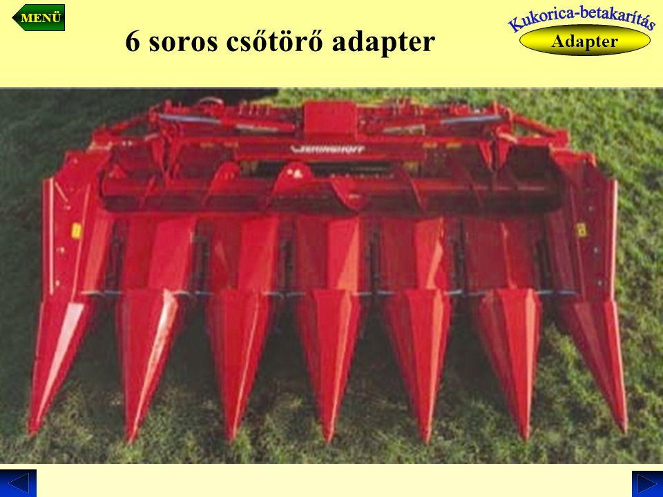 6 soros csőtörő adapter Adapter MENÜ