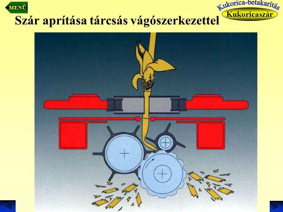 Szár aprítása tárcsás vágószerkezettel Kukoricaszár MENÜ