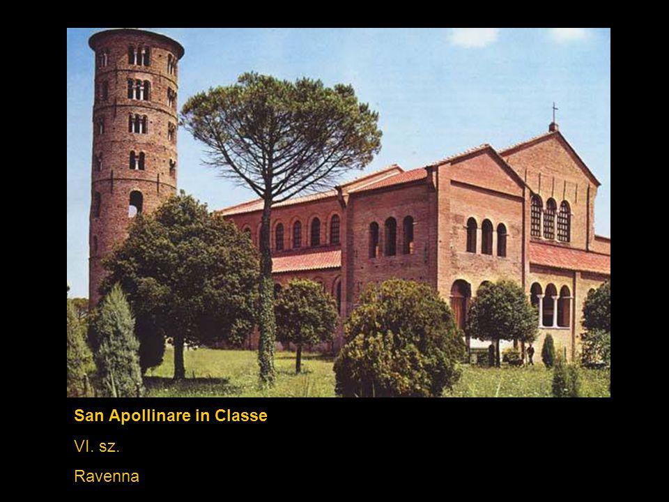 San Vitale / Theodora császárné és kísérete (mozaik) 532-547