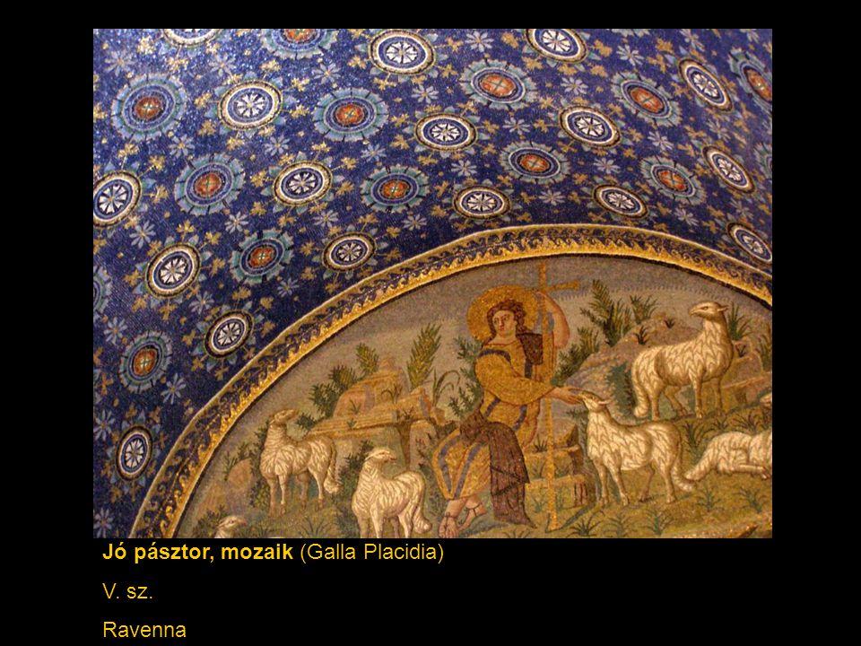Jó pásztor, mozaik (Galla Placidia) V. sz. Ravenna