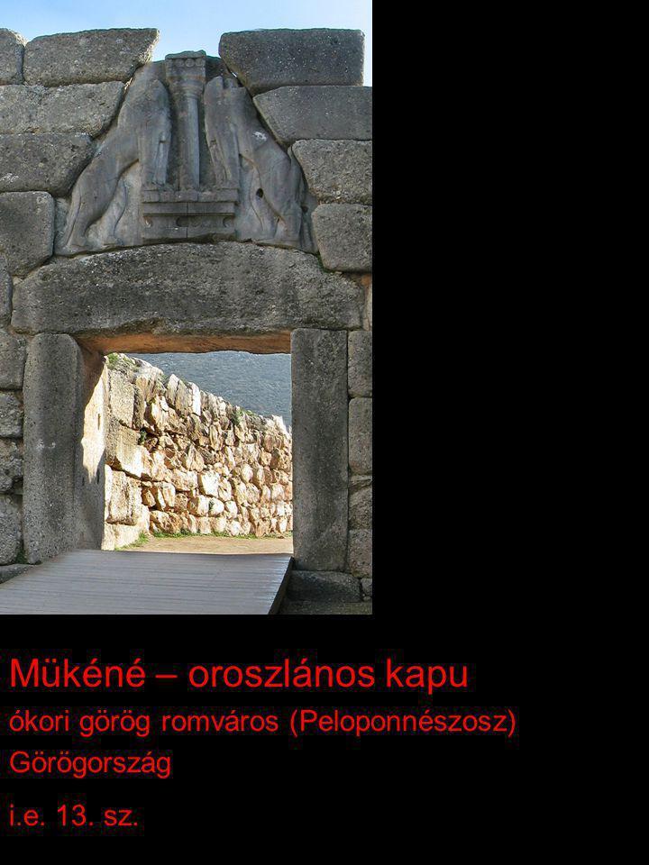 Mükéné – oroszlános kapu ókori görög romváros (Peloponnészosz) Görögország i.e. 13. sz.
