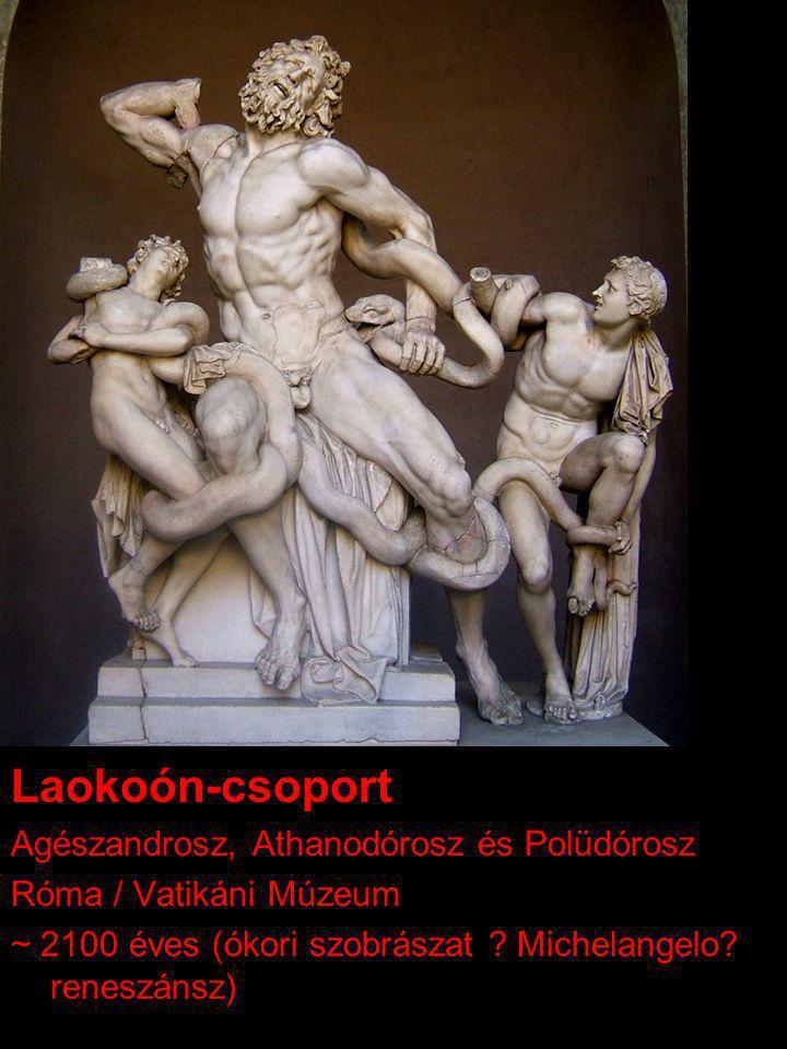 Laokoón-csoport Agészandrosz, Athanodórosz és Polüdórosz Róma / Vatikáni Múzeum ~ 2100 éves (ókori szobrászat .