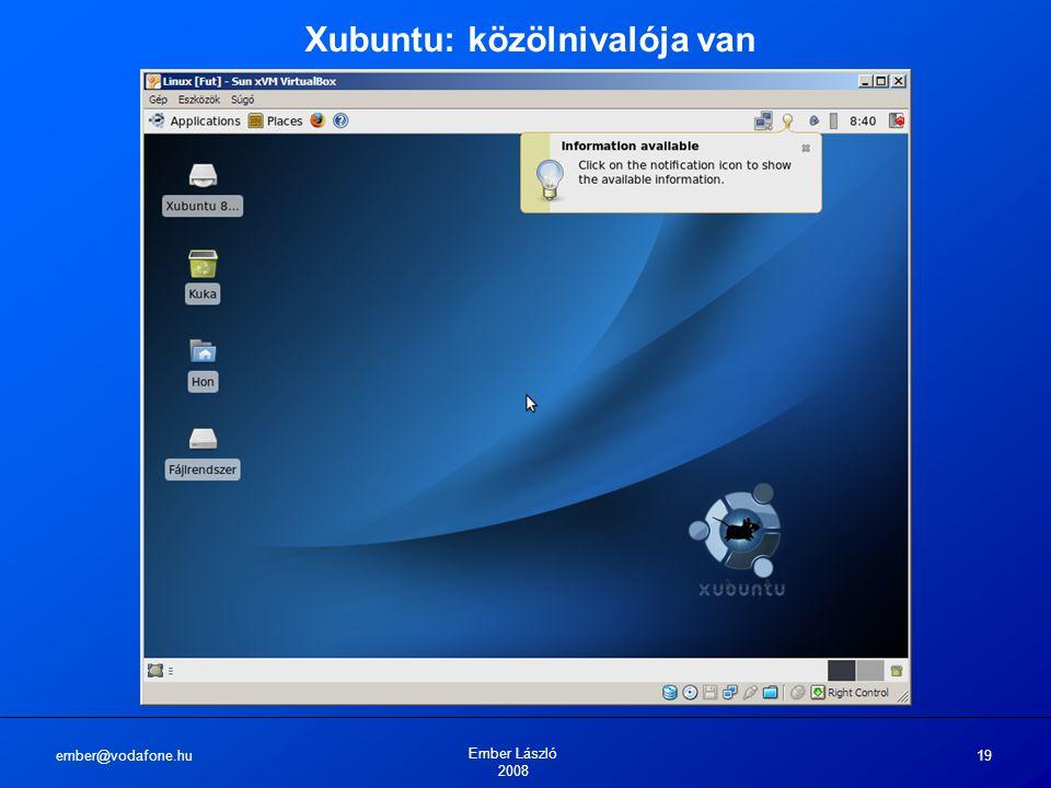 ember@vodafone.hu Ember László 2008 19 Xubuntu: közölnivalója van